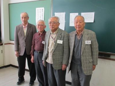 安藤(5期)・近森先生・中西先生・稲葉(4期)