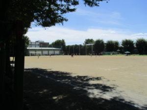 今夏は最高気温が軒並35℃・・・が、当日は28℃ほど。サッカー部の日頃の行い、完璧です。