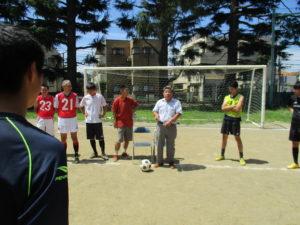 會田 勝 先生時代のサッカー部OBお2人が、激励に来てくださいました。