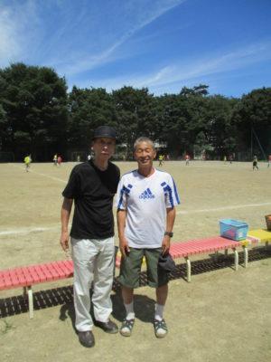 ここでサプライズ。「板村先生に会いに来ました」と富澤敏彦先生、登場。
