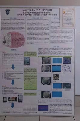 ★最優秀研究賞★人体に潜むバクテリアの研究