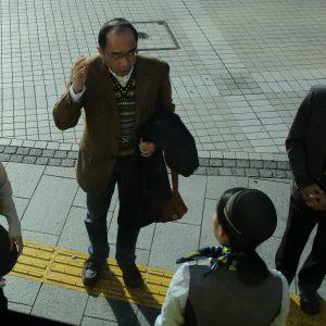 出発ギリギリまで打ち合わせるクリ幹事・・・はとバスとの交渉、気遣いの手配、本当に本当にありがとう。お疲れ様でした\(^o^)/