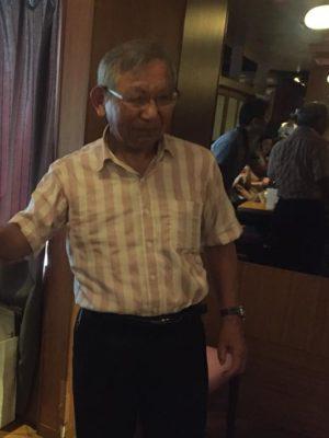 藤木先生の乾杯